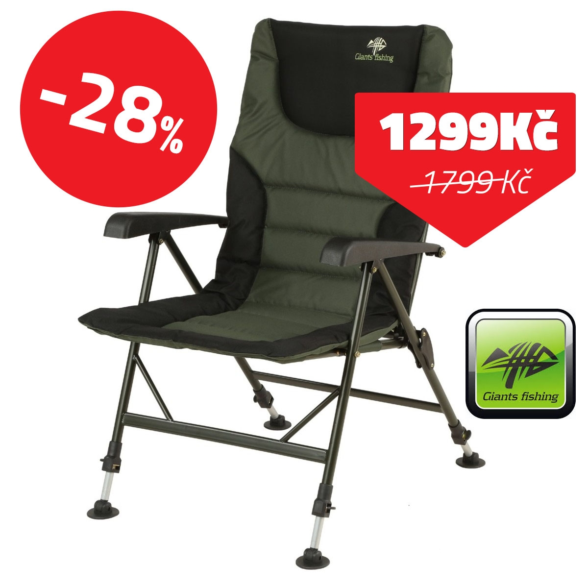 GIANTS FISHING Sedačka Komfy Plus Chair - 28% VÝPRODEJ