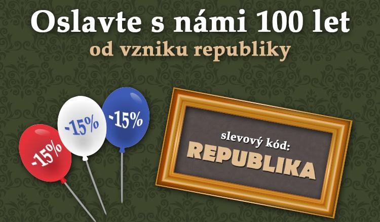Oslavte s námi 100 let republiky. Sleva 15%