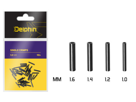 Delphin Single CRIMPS /40ks