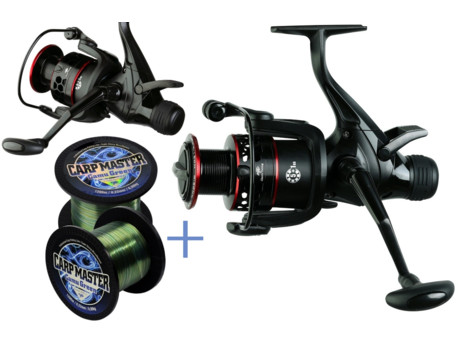 GIANTS FISHING Naviják Gaube Reel FS 6000 + Vlasec Carp Master Camou Green 0,28mm/1200m