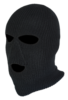 Norfin kukla Hat-Mask Knitted  Black vel. XL