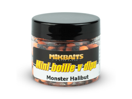 Mini boilie v dipu 50ml - Monster Halibut