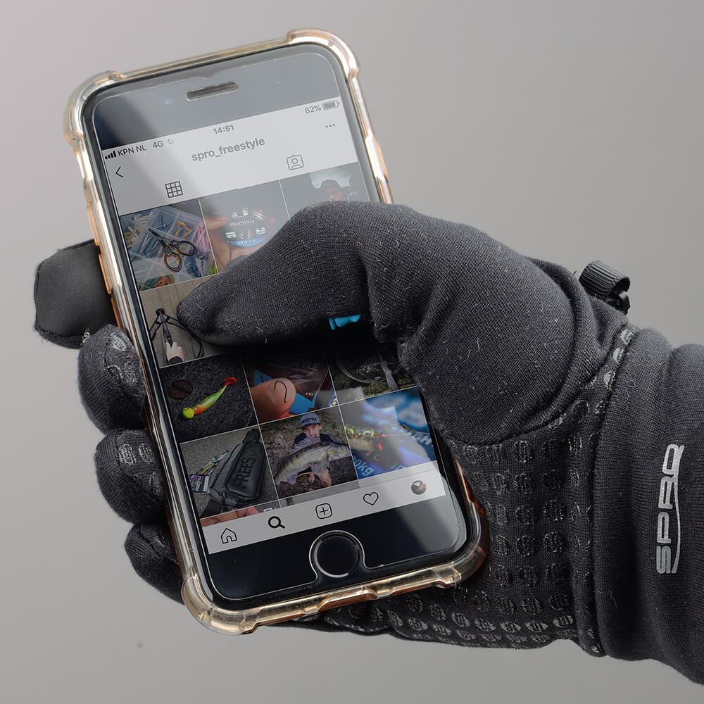 SPRO rukavice FreeStyle SKINZ GLOVES TOUCH