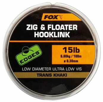 FOX EDGES ZIG & FLOATER HOOKLINK TRANKS KHAKI 100M