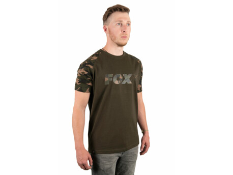 Fox Triko Camo Khaki Chest Print T-Shirt