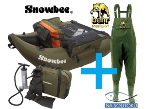 belly boat SNOWBEE Belly Boat Float Tube Kit
