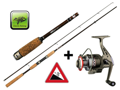 GIANTS FISHING Prut LXR Spin 8ft 20-40g + naviják zdarma!