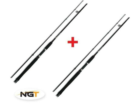 NGT Prut Carp Stalker Rod 8ft/2pc black 1+1 ZDARMA!