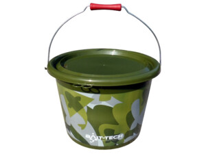 BAIT-TECH Kbelík Groundbait Bucket & Lid - Green Camo