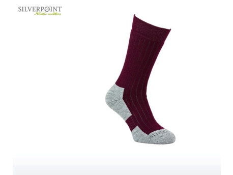 0da9efb4382 Silverpoint Outdoor SILVERPOINT Ponožky All Season Wool Hiker vínová šedá