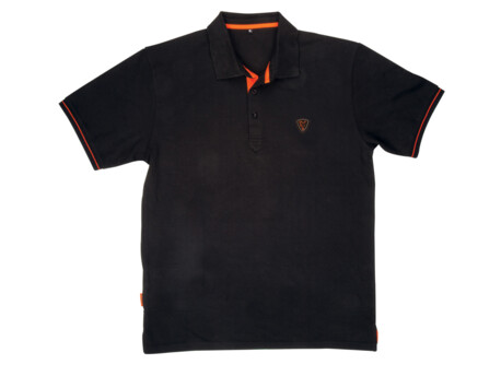 FOX Triko Polo shirt Black / Orange