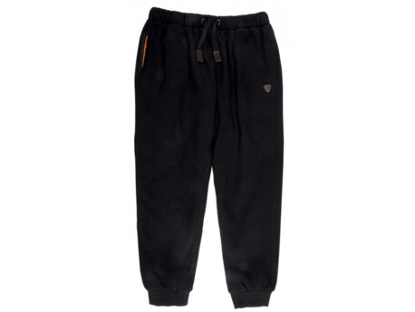 FOX Tepláky Black and Orange Heavy Lined Joggers