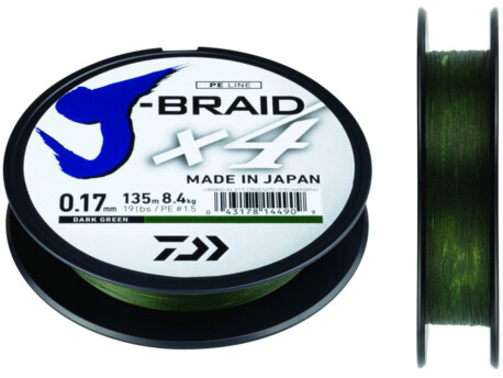 DAIWA J-Braid X4 Green 135m