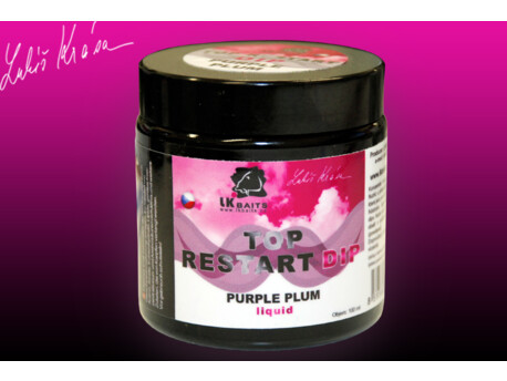 LK Baits Top ReStart Dip Purple Plum 100ml