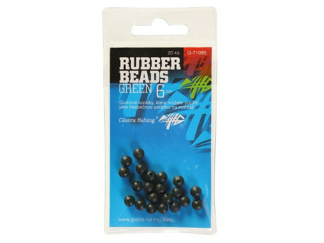 GIANTS FISHING Gumové kuličky Rubber Beads Transparent Green 3mm,20ks