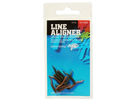 GIANTS FISHING Rovnátka na háček Line Aligner-Large Green-Brown/12pc
