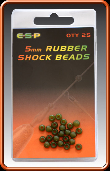 ESP Rubber Shock Beads Camo Brown 8mm