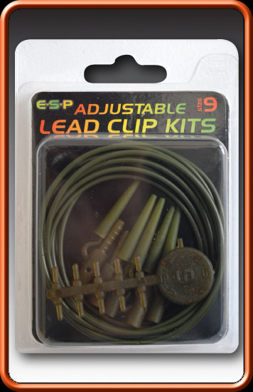 ESP Adjustable Lead Clip Kits-Weedy Green