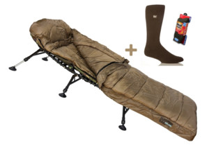 GIANTS FISHING Spací pytel Deluxe 3-4 Season Sleeping Bag + HEAT HOLDERS Termo izolační ponožky ZDARMA!!