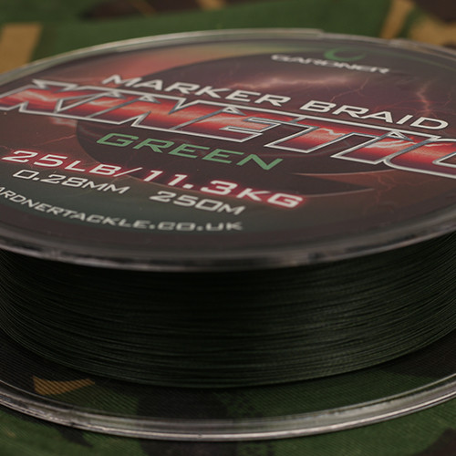 GARDNER Splétaná šňůra Kinetic Marker Braid 250m, 25lb (11.3kg) 0.32mm