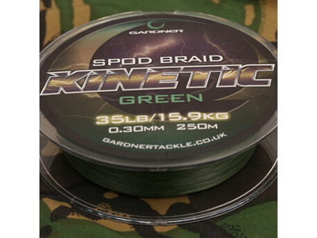 GARDNER Splétaná šňůra Kinetic Spod Braid, 250m, 35lb (15.9kg) 0.36mm