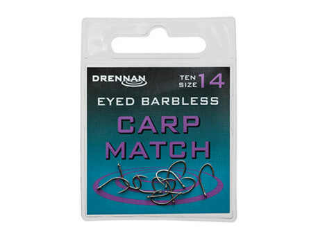 Drennan háčky Eyed Carp Match Barbless