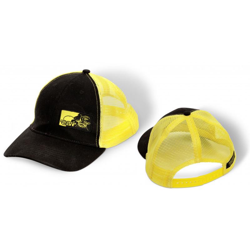 BLACK CAT Kšiltovka Trucker Cap uni černá žlutá 🎣 Na Soutoku 25f26429b4