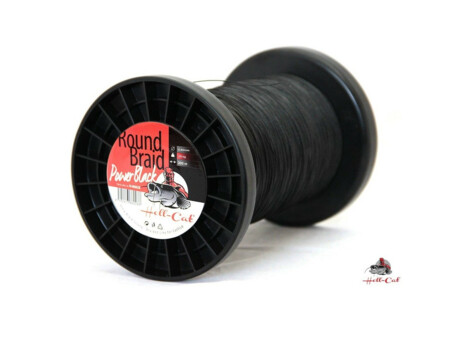 Hell-Cat Splétaná šňůra Round Braid Power Black 0,60mm, 75kg, 1000m