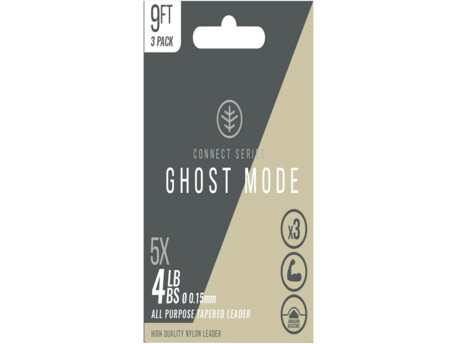 WYCHWOOD Ujímaný návazec Ghost Mode Tapers 3X 9ft 4lb