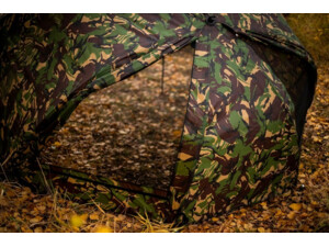 GIANTS FISHING SET Umbrella Brolly Exclusive CAMO 60 + lehátko Specialist 6Leg + Spací pytel 5 Season Ext Camo Sleeping Bag
