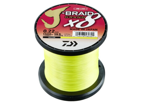 DAIWA J-Braid X8 Grand žlutá 1m