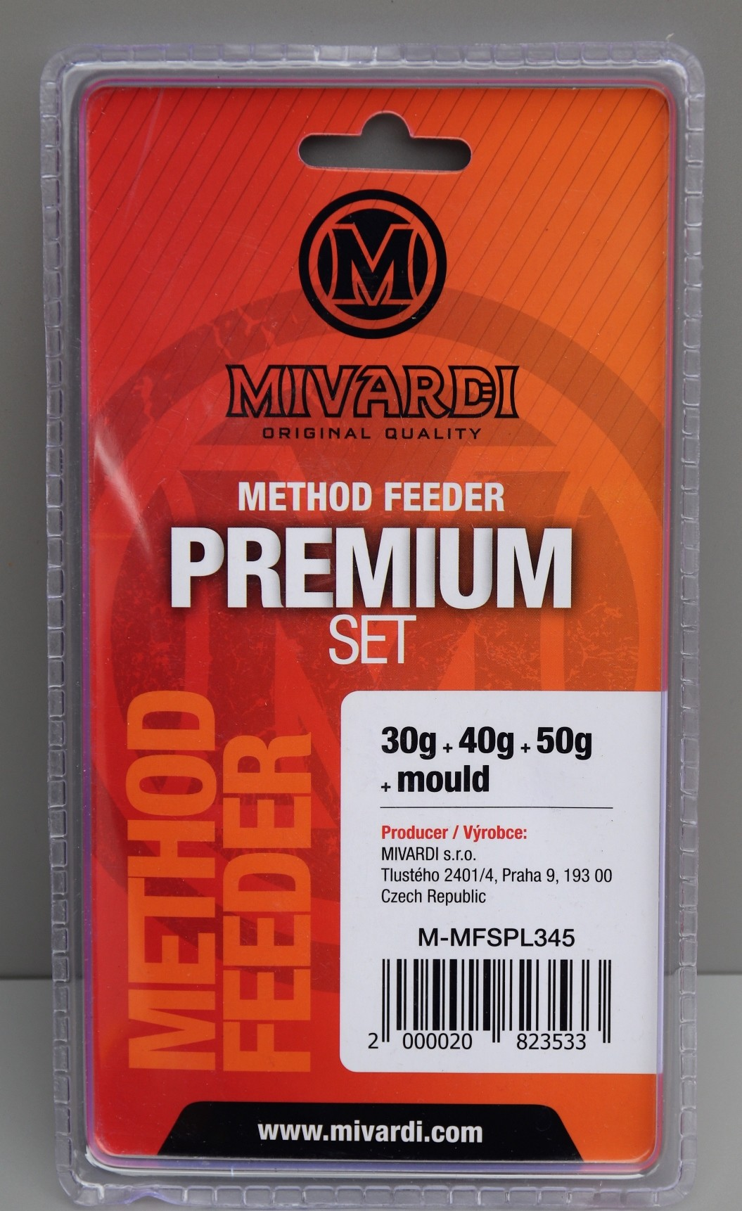 MIVARDI Method Feeder set Premium L (30g + 40g + 50g + formička)