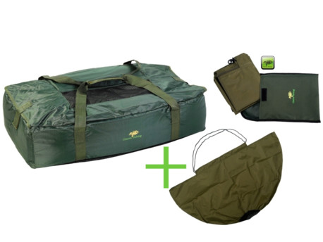 GIANTS FISHING Podložka Unhooking Mat Carp Green + Vážící sak Specialist Weigh Sling