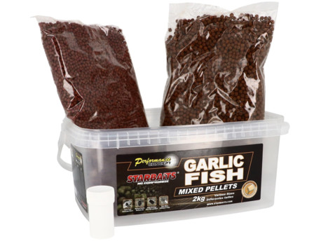 STARBAITS Pelety Garlic Fish MIX 2kg