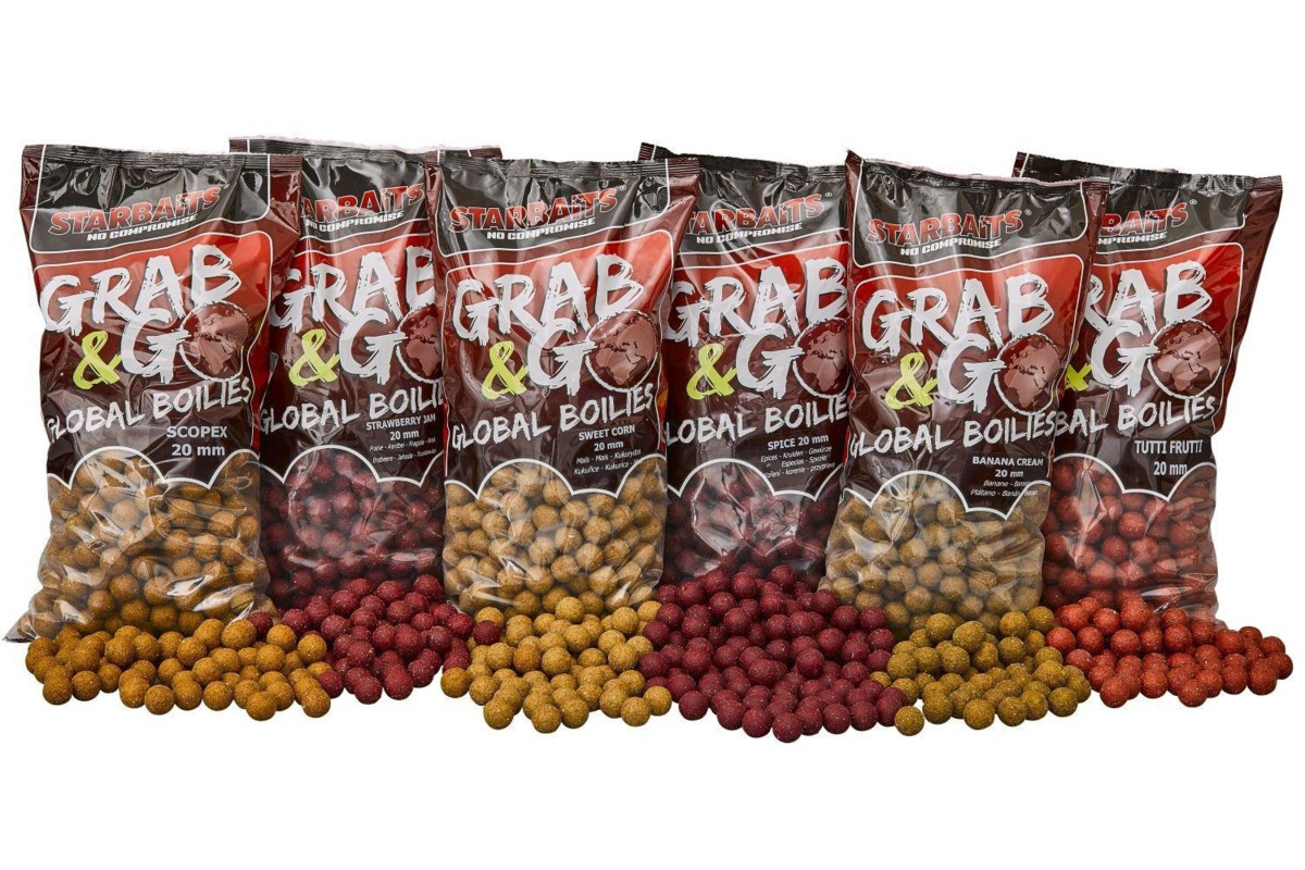 STARBAITS GRAB & GO GLOBAL BOILIES 20 mm 10kg