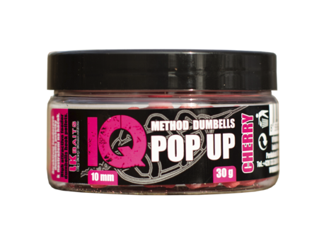 LK Baits IQ Method Dumbels Pop-Up 10mm, 30 g Cherry