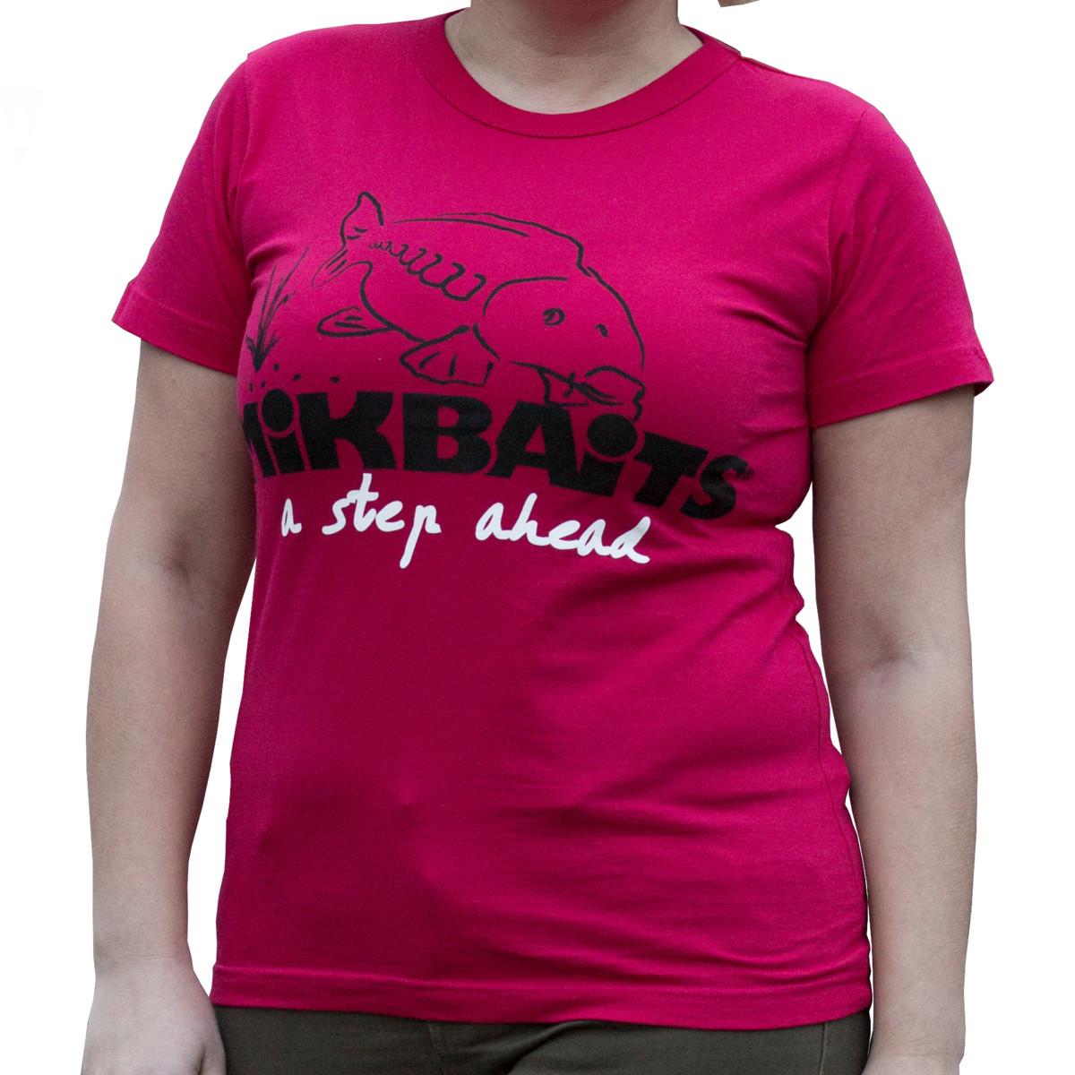 834340411 MIKBAITS Dámské tričko červené Ladies team 🎣 Na Soutoku