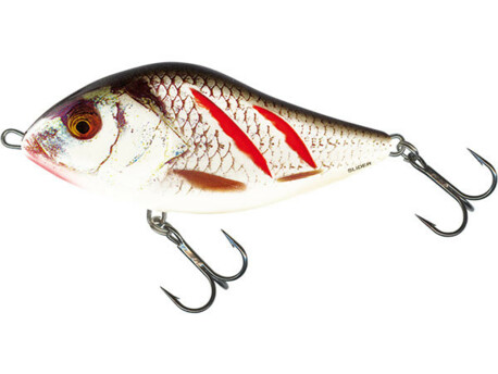 SALMO Wobler Slider Floating Wounded Real Grey Shiner 7cm 17g