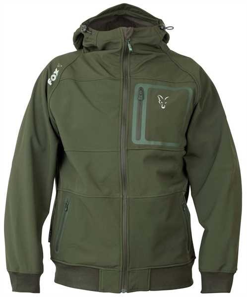 FOX Bunda Collection Green & Silver Shell Hoodie VÝPRODEJ